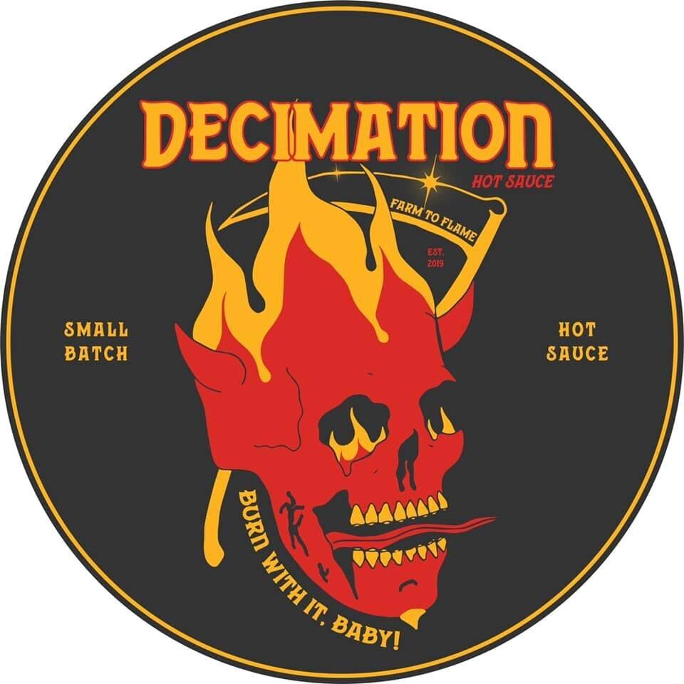Decimation Hot Sauce Logo